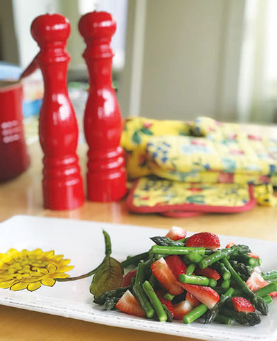 City Palate, guide to the good life in Calgary - quick ways with - 2018-07-08 - Strawberry and Asparagus Salad
