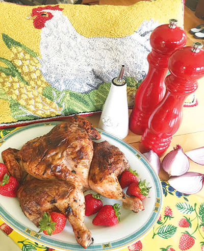 City Palate, guide to the good life in Calgary - quick ways with - 2018-07-08 - Strawberry Balsamico Spatchcock Chicken