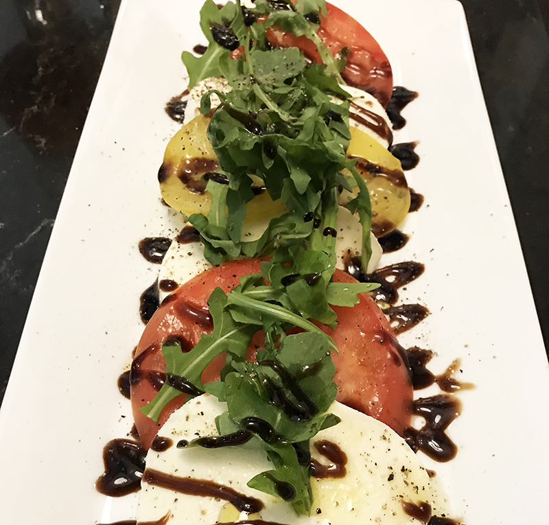 Caprese Salad at Headquarters restaurant in Calgary