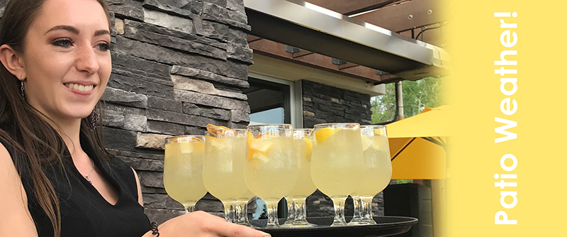 Limoncello cocktails on the patio at Allora in Calgary