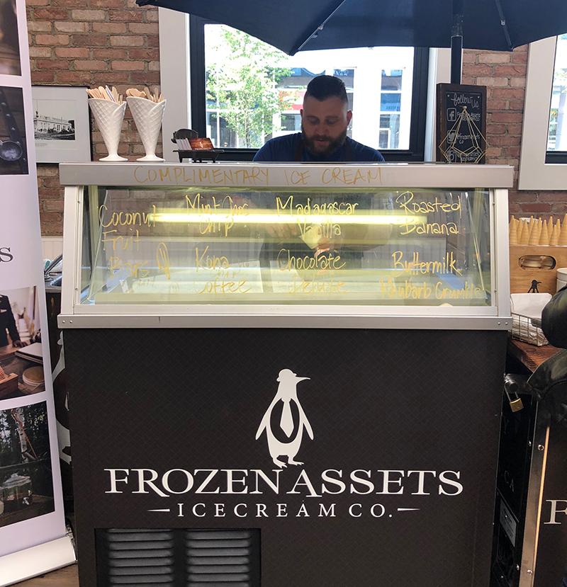 Frozen assets ice cream freezer in Calgary