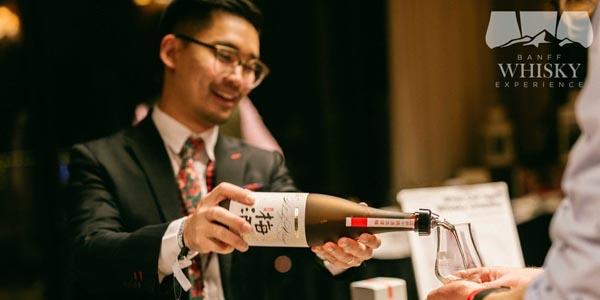 Man pouring Japanese Whiskey
