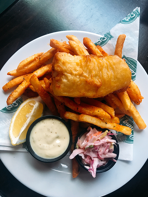 Calgary pub Dublin Calling fish and chips