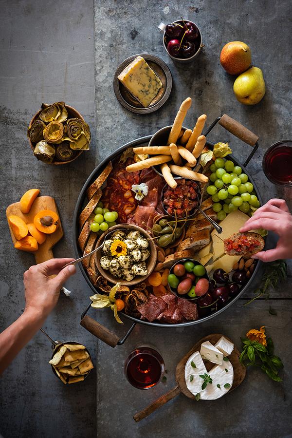 Calgary food magazine Italian charcuterie board by food photographer Sandy Weatherall