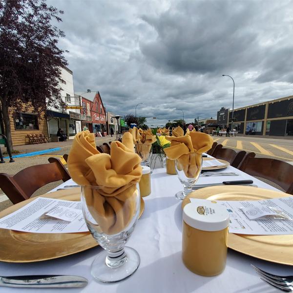 stettler taste of the heartland long table dinner