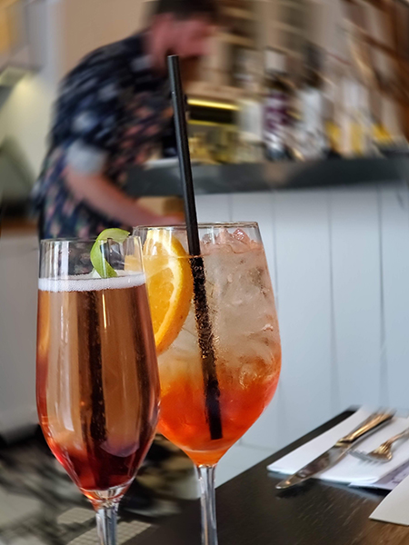 Italian cocktails Calgary Cucina Summer Feast