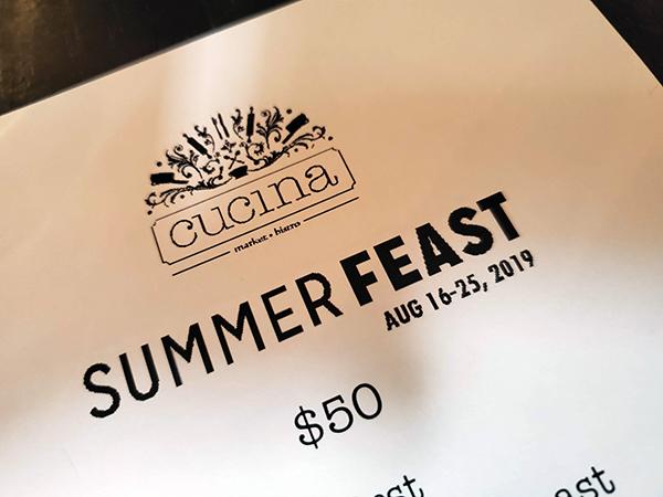summer feast Calgary Cucina menu