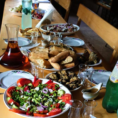 spread of Georgian food