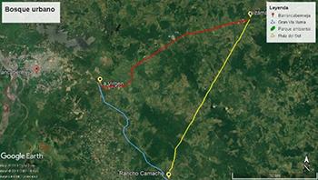 gran vía Yuma y ruta del sol (imagen 1, Jorge Restrepo, Google earth)