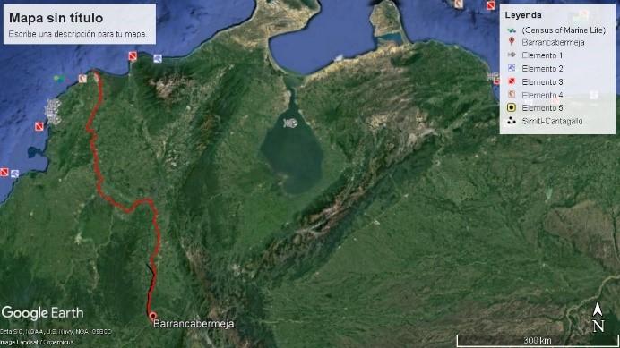 (imagen 3, Jorge Restrepo, Google earth)