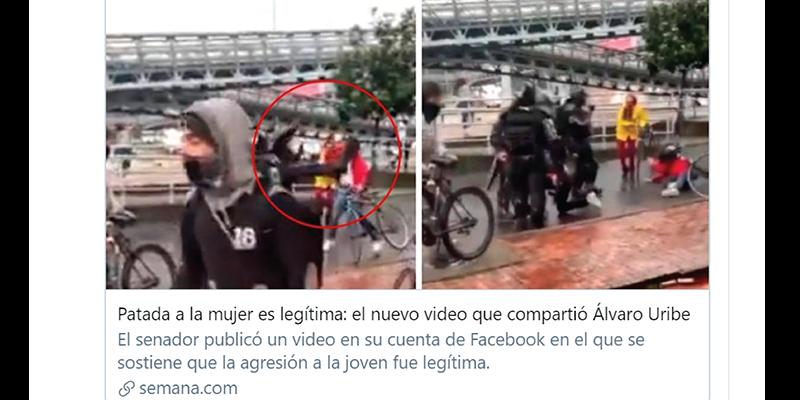 """Hablemos de la patada """"legítima"""" según Uribe y Semana – Por: Jorge Gomez P"""