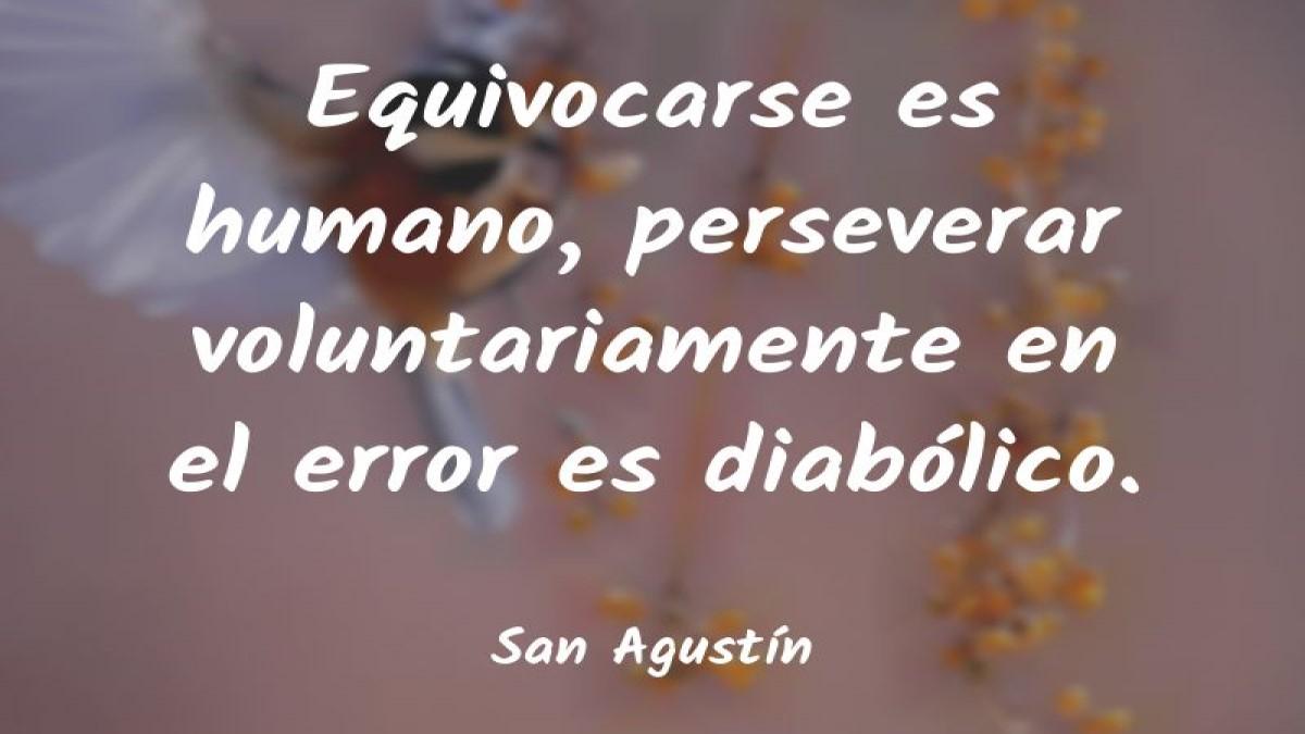 """""""Errare humanum est, sed perseverare diabolicum"""" – Por: Jaime Calderon H"""