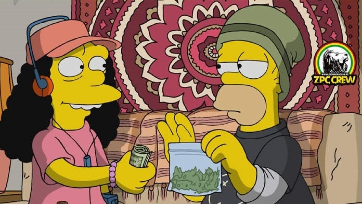 """""""Los Simpson"""" y su """"afición"""" a la marihuana  – Por: Jorge Gómez Pinilla"""