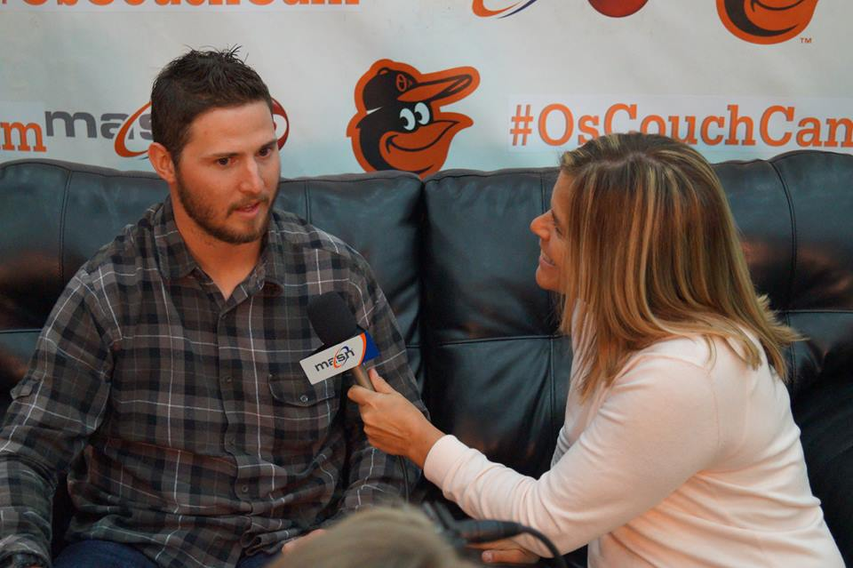 Zach Britton & I chatting at Orioles FanFest!