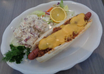 ok = FOOT LONG CHILI DOG