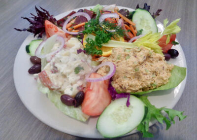 ok - New, Vegan Toona Platter, Replaces Toona Sandwich which is still available