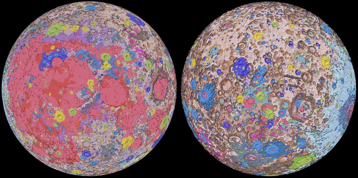 USGS Releases Unified Geological Map of the Moon
