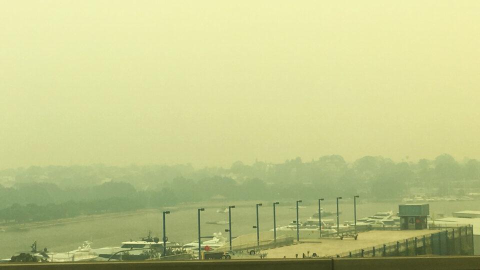 wildfire smoke in Sydney, Australia