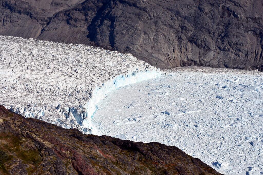warming greenland glaciers