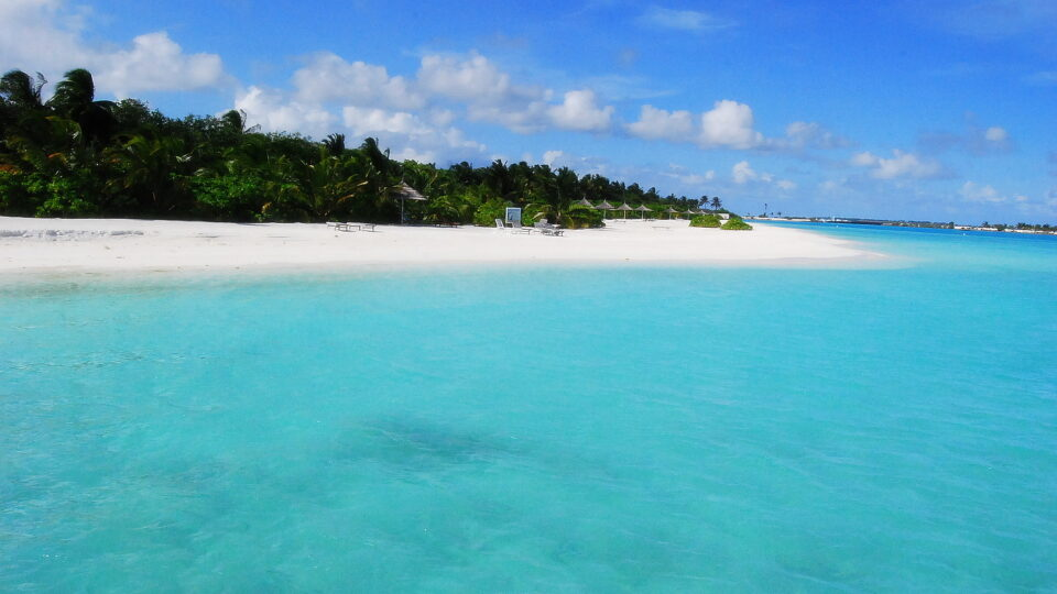 Rising seas are threatening the Maldives