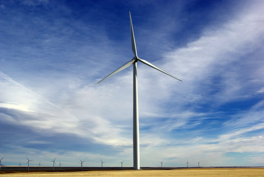 Wind farms placed too closely together slow one another down