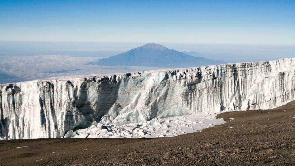 Climate changing is shrinking glaciers all around the world