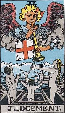 "The ""Judgment"" card of the Tarot"