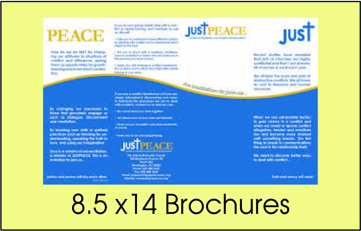 8.5 x14 Brochures