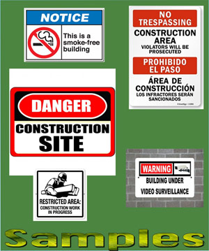 construction sign printing