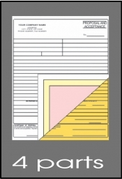 4-part ncr forms