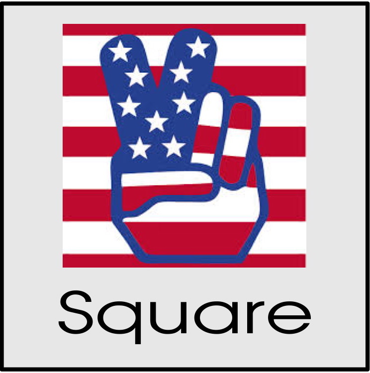 Square custom sticker printing Glendale