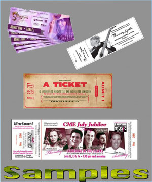 custom ticket printing