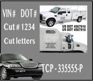 vinyl cut letters   car or truck