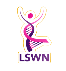 A digital preview of the LSWN pin a member receives. This logo ties in with our  mission.