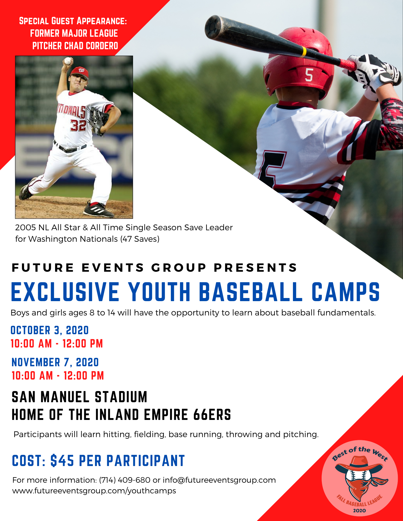 Youth - Baseball Camps rev 09-28-2020
