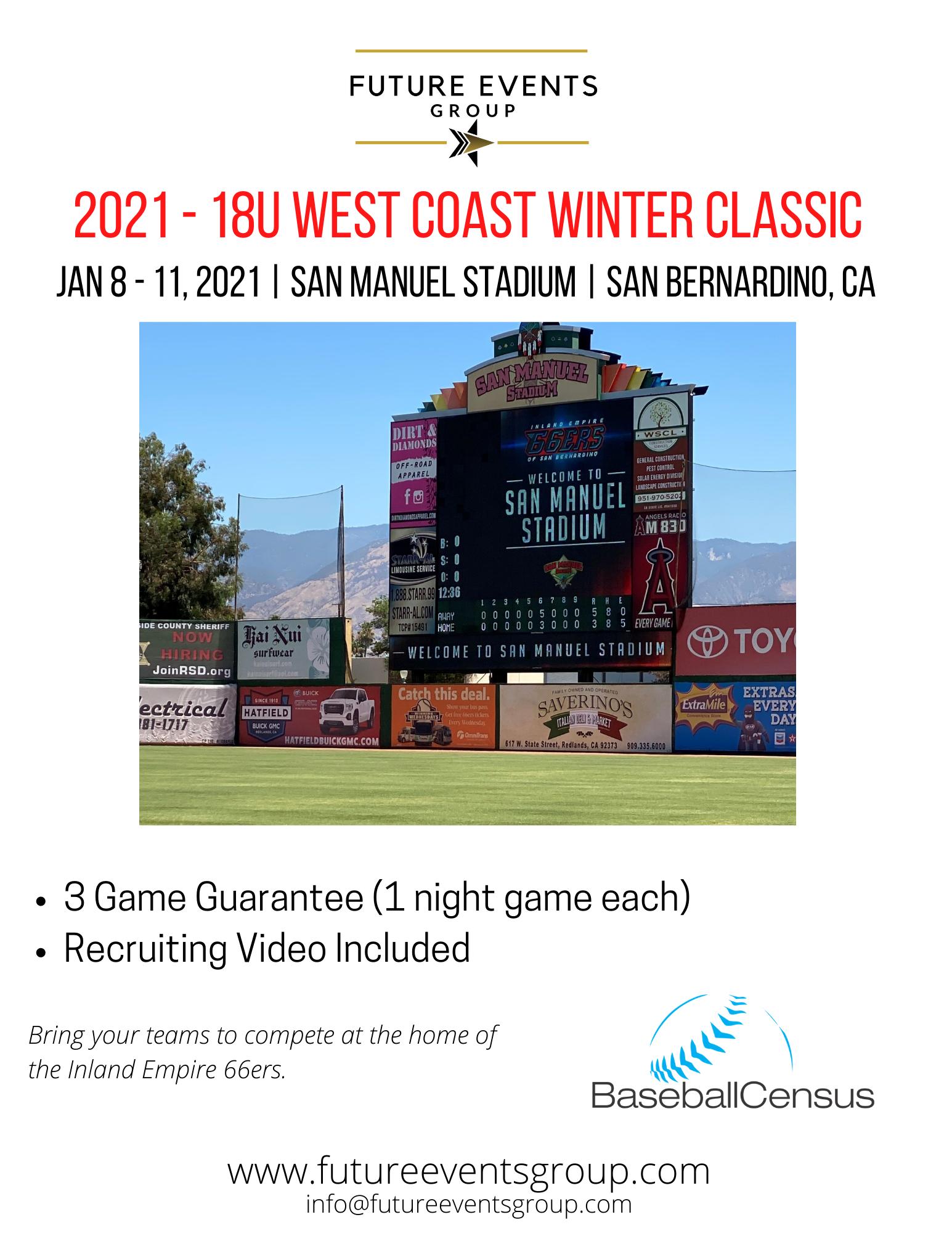 2021 West Coast Winter Classic - 18U Tournament