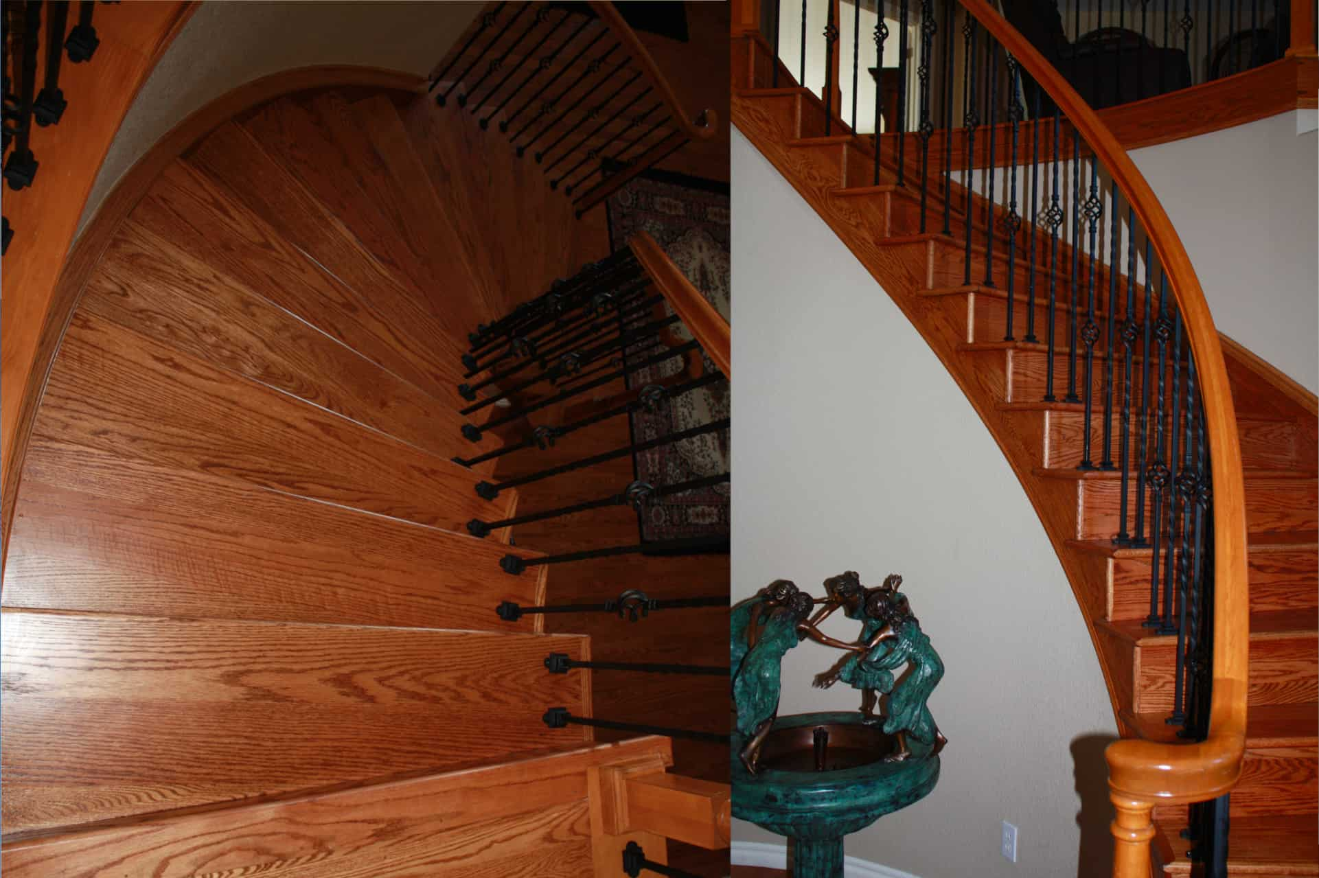 Unique spiral staircase in Urban wood creates one-of-a-kind home products , Mark Stephens, The Wooden Wish, Parker, Colorado