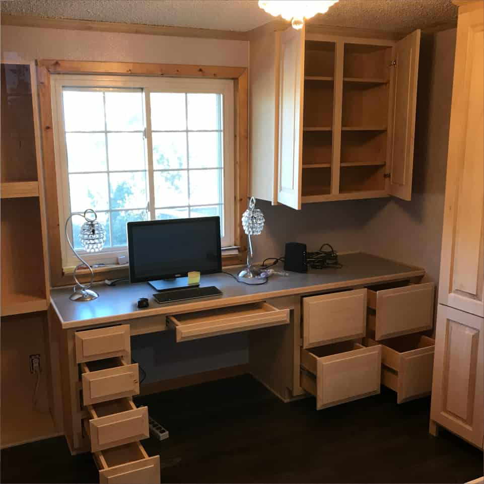 Handmade office furniture from master craftsman & woodworker, Mark Stephens, The Wooden Wish, Parker, CO