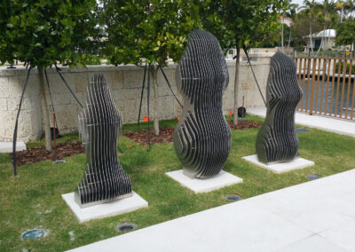 """Woman Silhouette Trilogy"" for Coral Gables Private Residence"