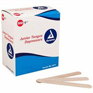 4311 Tongue Depressors Wood, Non-sterile Junior 5.5