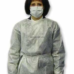 Protective Gowns White Impervious Poly Laminated