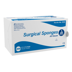 "3232 Surgical Gauze Sponge 3""x 3"" 8 Ply"