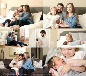 In Home Lifestyle Newborn Session Alpharetta Photographer 2019
