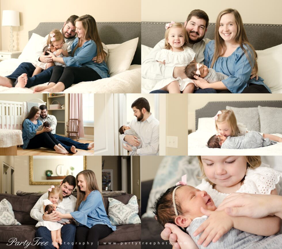 In Home Lifestyle Newborn Session Alpharetta Photographer 2019