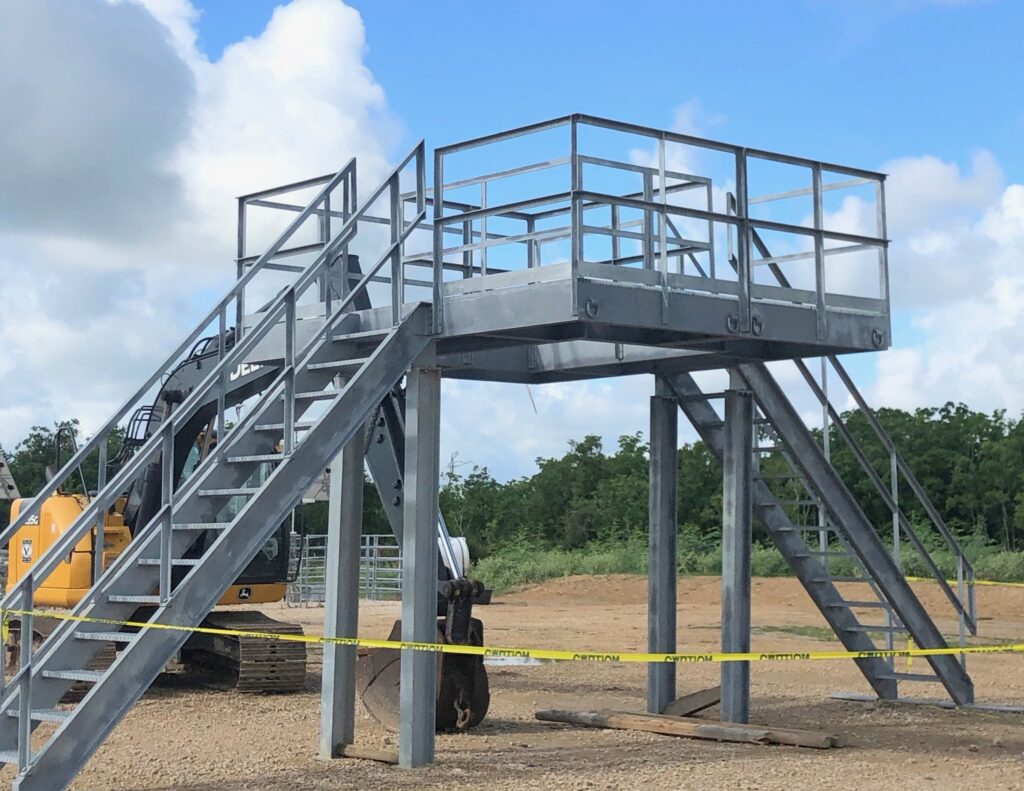 custom platform fabrication in oilfield
