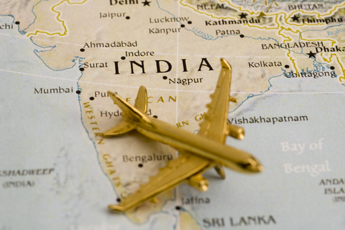 India-aviation-map