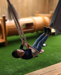 I am swinging