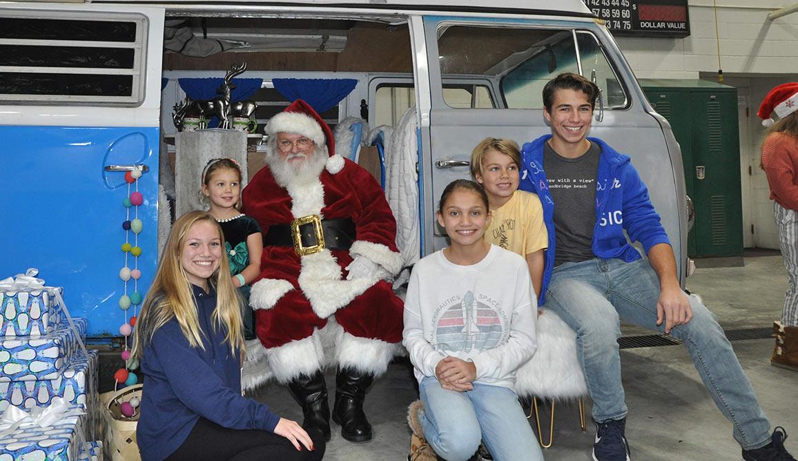 Santa Visits Sandbridge on Dec. 8th Highlights