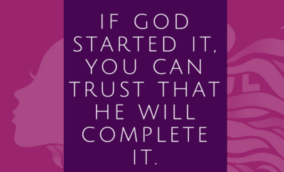 God will complete