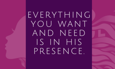 Get in His presence